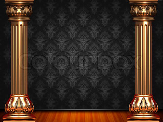 Theatre black pattern curtain stage