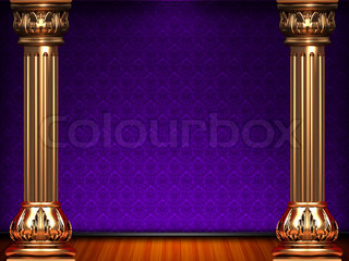 Theatre violet curtain stage