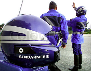 Image of 'gendarme, safety helmet, safety helmets'