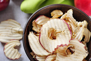 Dried apples chips