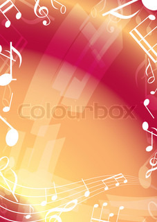 abstract orange music background - frame