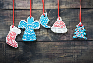 colorful christmas gingerbread