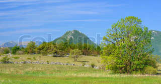 Mountain in Lika - Trovrh. The view near Ondic, Croatia