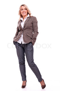 40 years old businesswoman smiling