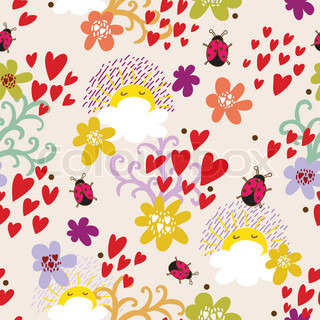 Foral seamless pattern in vector