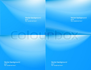 Set of abstract blue backgrounds with a copyspace