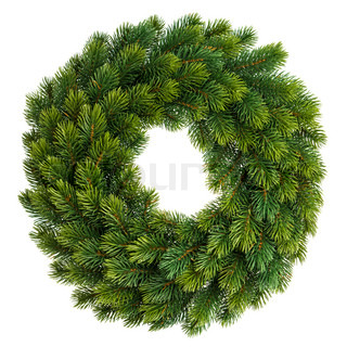 christmas decoration evergreen wreath undecorated