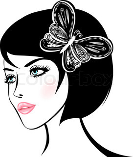 beauty woman portrait design element