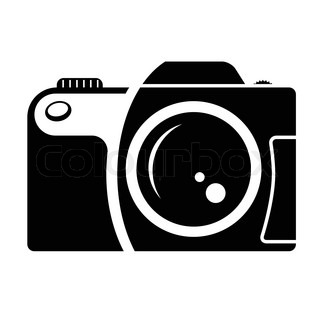 camera sign black and white icon design element of corporate identity