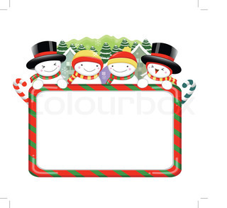 Snowman Mascot using a variety of banner designs Christmas Character Design Series