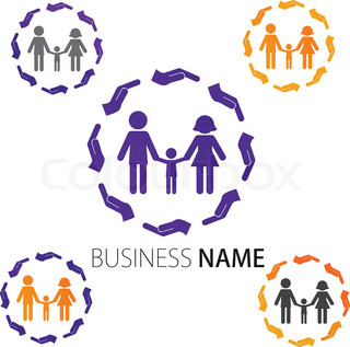 Company Logo Design, Peoples, Family