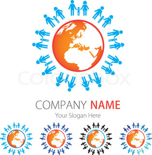 Company Logo Design, Peoples, Family, Earth, Globe