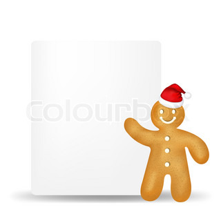 Gingerbread Man With Blank Gift Tag