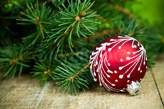 christmas decoration and fir tree