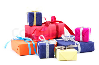 Gifts pack isolated on a white background