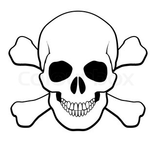 Human Skull And Crossbones Vector 4032509 on caution seamless