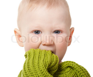 closeup little baby boy portrait