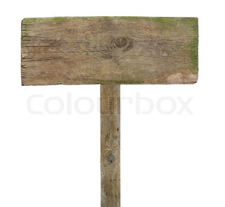 Wooden arrow sign post blank fill text. | Stock Photo ...