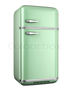 Modern refrigerator isolated on white background | Stock Photo ... | {Kühlschränke retro 8}
