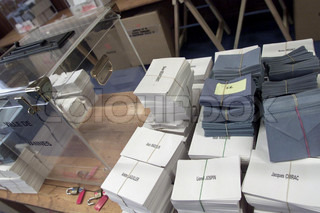 The presidential election (ballot boxes)
