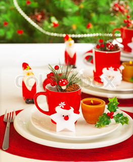 Winter holidays table setting