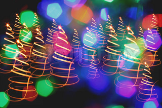 christmas background from the color lights