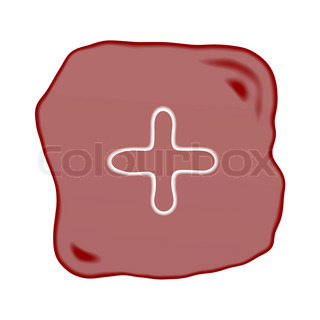 A Reddish Brown Stone of Plus Sign