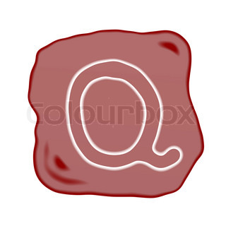 A Reddish Brown Stone of Alphabet Letter Q