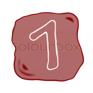 A Reddish Brown Stone of Alphabet Number 1