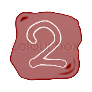 A Reddish Brown Stone of Alphabet Number 2