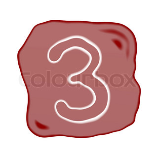 A Reddish Brown Stone of Alphabet Number 3