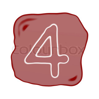 A Reddish Brown Stone of Alphabet Number 4