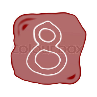 A Reddish Brown Stone of Alphabet Number 8