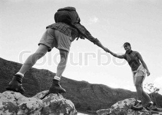 Image of 'mountain climbing, mountain, people'