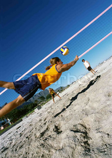 Image of 'volleyball, volley ball, beach'