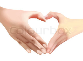Heart of Love, Two Hands Make Heart Shape