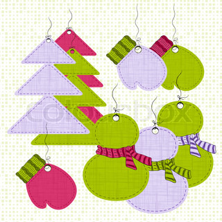Christmas labels' set