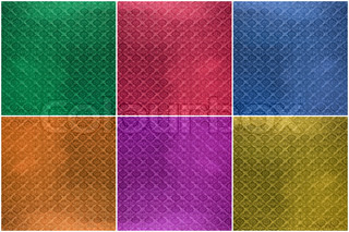 Collage of Tiled glass green, blue, red, orange, pink, yellow