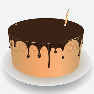 Cake With Icing Vector : Cake chocolate icing Vector Colourbox