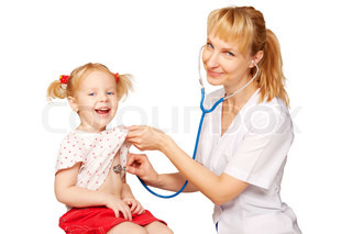 Image of ' pediatrician,  doctor and patient, health'