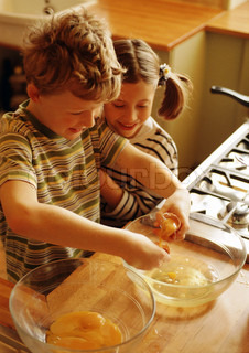 Image of 'cooking, kid, kids'