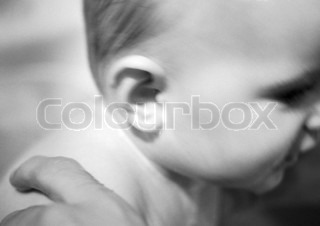 Image of 'child, monochrome, person'