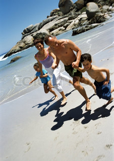 Image of 'families, summer, beach'