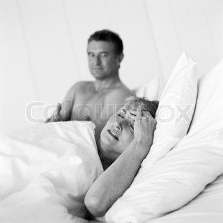 Image of 'couple, bed, senior'