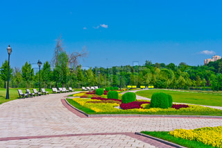 Walkway in tsaritsino park moscow russia east europe stock photo colourbox - Impressive house with tranquil environment to get total relaxation ...
