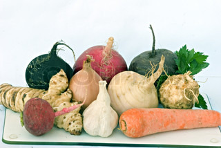 Different root vegitables