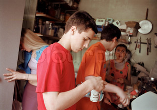 Image of 'cooking, boy, boys'