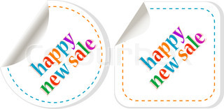 stickers happy new sale set Symbol of new year