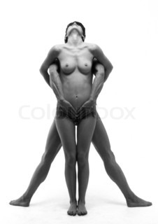 Image of 'denude, naked, couple'