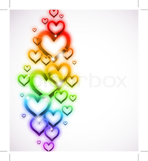 Rainbow Heart with Sparkles on white Vector
